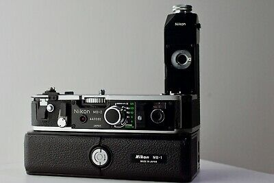 Nikon MD-2  Motor Drive with MB-1 and both MS-1s for Nikon F2, amazing condition