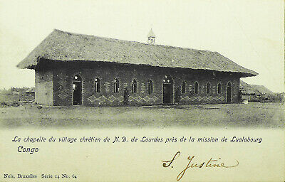 Belgian Congo Original Postcard More Than 100 Years Old With Stamp Used