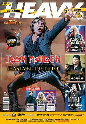 NEW!! IRON MAIDEN - BRUCE DICKINSON - LA HEAVY Magazine - December 2019