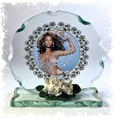 Beyonce Cut Glass Round Plaque Fan Memorabilia Limited Edition #4