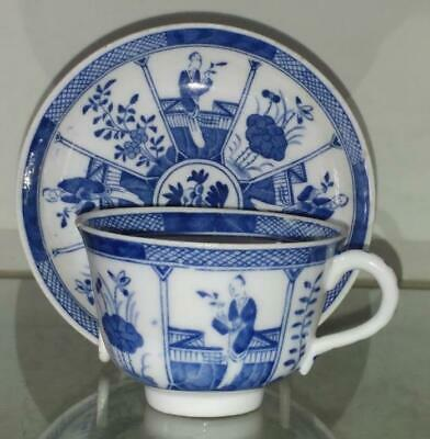 Qing Chinese Porcelain Blue and White Porcelain Cup & Saucer - Kangxi Marks