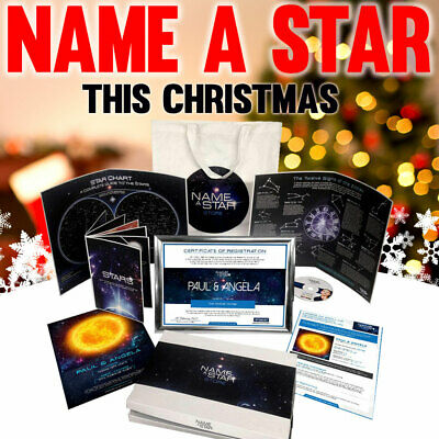 Personalised Gifts For Him Name A Star Godson Present Christmas Birthday Set