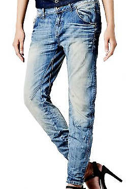 G-Star Raw Arc 3D Tapered Ladies Destroyed look Blue Jeans W30 L32 *REF24-14