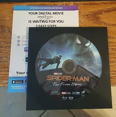 Spiderman Far From Home Blu Ray & DIGITAL Code Spider-Man Bluray