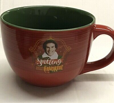Elf Smiling Is My Favorite Large Mug Coffee Cup Will Ferrell Christmas Holiday