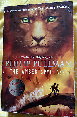 The Amber Spyglass by Philip Pullman Paperback Vol.3, His Dark Materials Trilogy