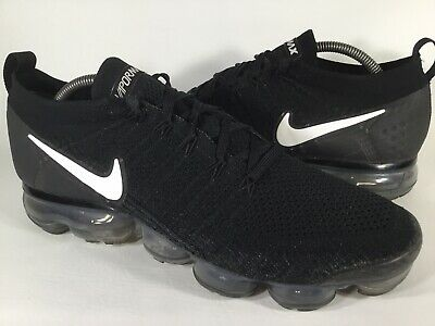 Nike Air Vapormax Flyknit 2 Black White Mens Size 11 Rare 942842-001 Running