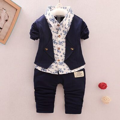 Spring Autumn Baby Clothing Sets Children Boys Tracksuits Kids Brand Sport