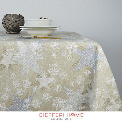Tovaglia Natale Natalizia art. BRUGES, varie misure - Cieffepi Home Collections