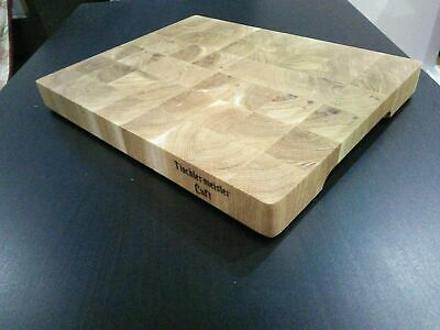 Handmade wooden cutting board end grain made of hardwood oak