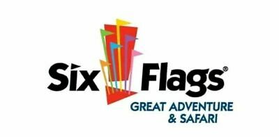 Lot of 4 x Six Flags Theme Park 1 Day Admission Ticket Exp 12/31 -Send Same Day