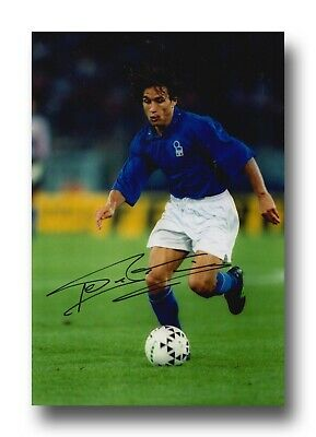ANTONIO BENARRIVO HAND SIGNED 12x8 PHOTO - ITALY - FOOTBALL AUTOGRAPH.