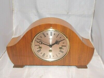 Vintage 8-Day Bentima Westminster Chimes Clock With Floating Balance Movement.