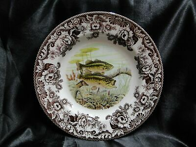 "Spode Woodland North American Fish Largemouth Bass: Dinner Plate 10 3/4"", Box"