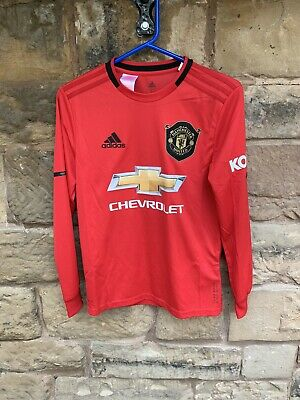 Brand New With Tags Manchester United FC 2019/20 Adidas Home LS Shirt Age 11/12