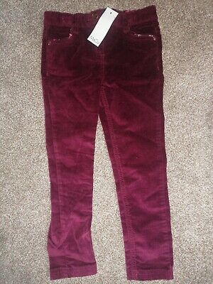 BNWT Girl's 3-4 Velour Trousers M&Co RRP £12