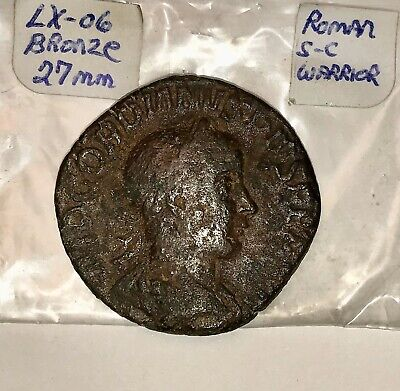Ancient Roman Coin Bronze Gordanius SC Bronze 27mm Thick Large Coin. Dark Patina