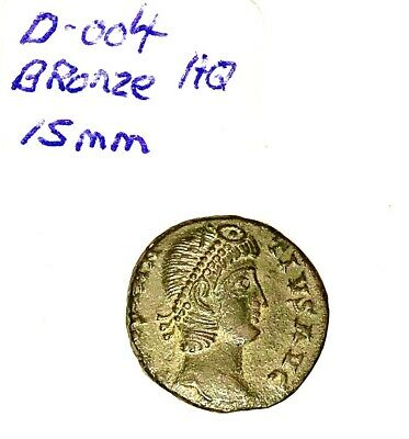 Ancient Roman Coin Bronze 15mm Super High Quality Soldiers Facing Standart
