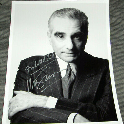 "Martin Scorsese Vintage Signed 8x10 ""The Irishman""  photo ""For Wild Bill"""