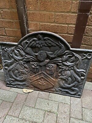 Large Cast Iron 1650 Antique Fire Back Plate