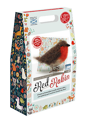 British Birds Red Robin Needle Felting Kit by The Crafty Kit Company