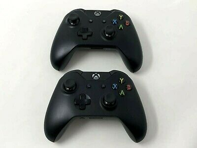 Microsoft Xbox One Wireless Controller Black Model 1537 1697 Genuine OEM Tested