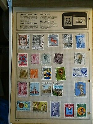 Luxembourg stamp collection 1960/70s - over 60 stamps