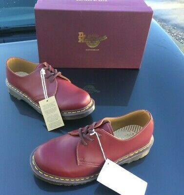Dr Martens 1461 oxblood leather shoes UK 6.5 EU 40 Made in England unisex