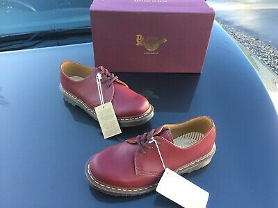 Dr Martens 1461 oxblood leather shoes UK 3 EU 36 Made in England unisex