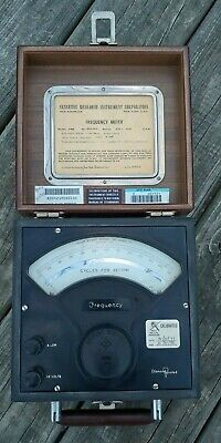 "Vintage  SENSITIVE RESEARCH INSTRUMENT CORP Model ""FRE"" FREQUENCY METER"