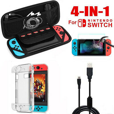 Protective Accessories Kit Portable Travel Carry Case Pouch for Nintendo Switch