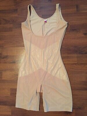 Womens Size Xl Star Spanx Bodysuit Slimmer Nude Shaper Shaping