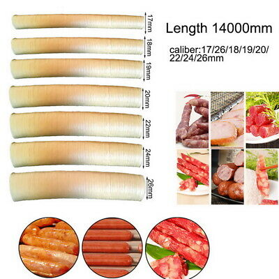 Dry Sausage  Skins Collagen Tube Meat Sausages Casing Maker Length 14m