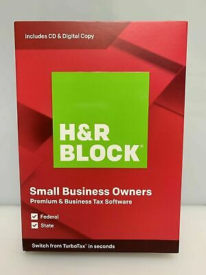 H&R BLOCK Tax Software Premium & Business 2019 for PC DVD included