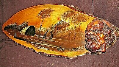 Vintage Aboriginal Camp Site Scene Picture Signed Andreas Toowoomba Artist