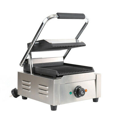 1800W Electric Panini Press Sandwich Toastie Maker Grill Griddle Stainless Steel