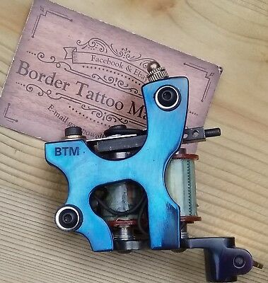Border Tattoo Machine,Cut-Back-Liner Custom Iron Frame Custom  8 Layer Coils