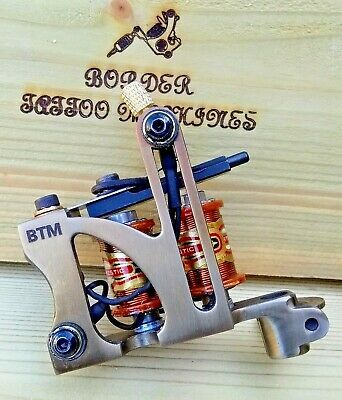 Border Tattoo Machine,Liner Custom Iron Treated Frame Custom 8 Layer Coils