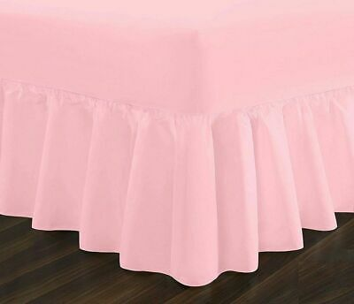 Fitted Valance Sheet Super King Bed Pink Poly Cotton Superking Valance Sheets