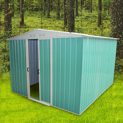 """New 6 X 8"""" Metal Garden Shed Apex Roof Outdoor Tool Storage With Free Foundation"""