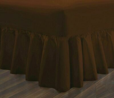 Chocolate Superking Fitted Valance Sheets Poly Cotton Super King Valance Sheets