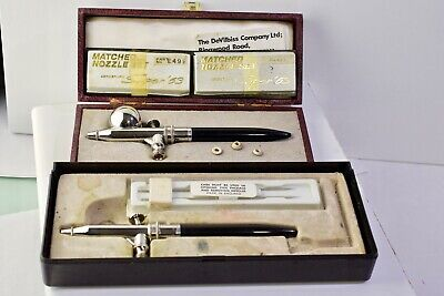 DEVILBISS Aerograph Super 63 Airbrush Double action and 63 with spares Vintage