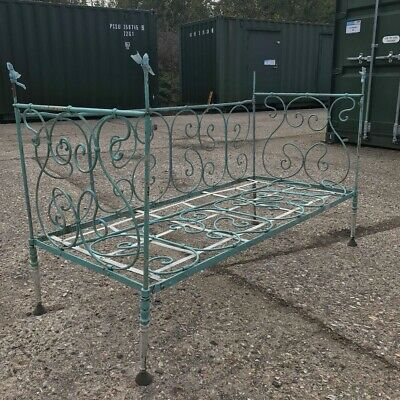 Beautiful Antique Cast Iron Folding French Day Bed