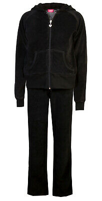 Love Lola Childrens Girls Velour Tracksuit Black Age 3/4