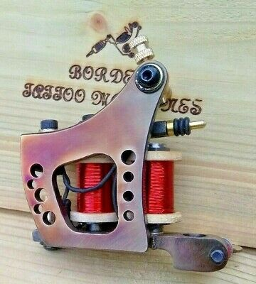 Border Tattoo Machine,Colour-Packer, Custom Iron Treated Frame,Red 8 Layer Coils