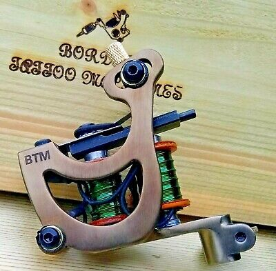 Border Tattoo Machine,Cut-Back Liner,Custom Iron Frame Custom 7&1/2 Layer Coils