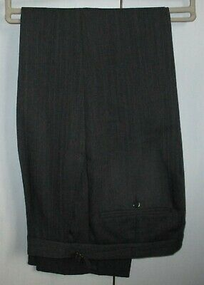 Wilvorst Grey/Black Stripe Trousers  Ascot Races Wedding Graduation W32 L30