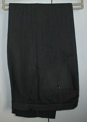 Wilvorst Grey/Black Stripe Trousers  Ascot Races Wedding Graduation W34 L33