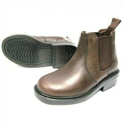 Oaktrak Walton Chocolate Brown Chelsea Ankle Boots Pull On Boys Leather
