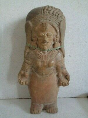Pre- Columbian Jama Coaque anthropomorphic figure early period.